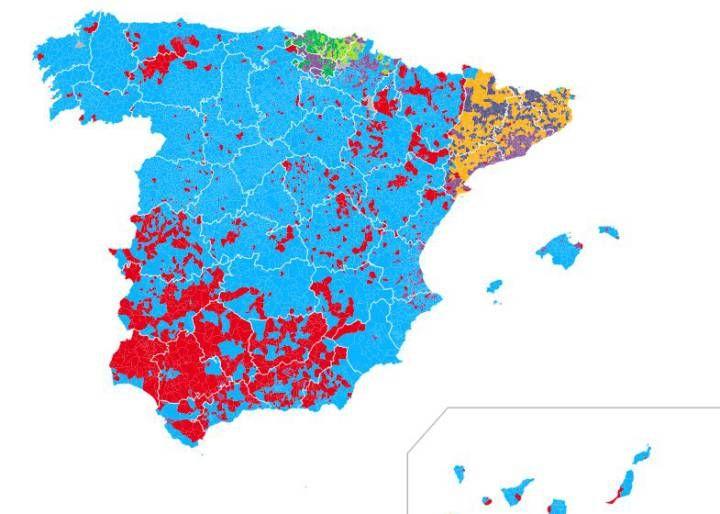 Mapa electoral de los resultados de 2016