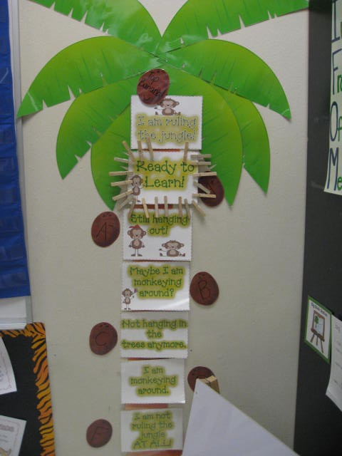Classroom Decoration Jungle Theme ~ Best images about behavior chore charts on pinterest