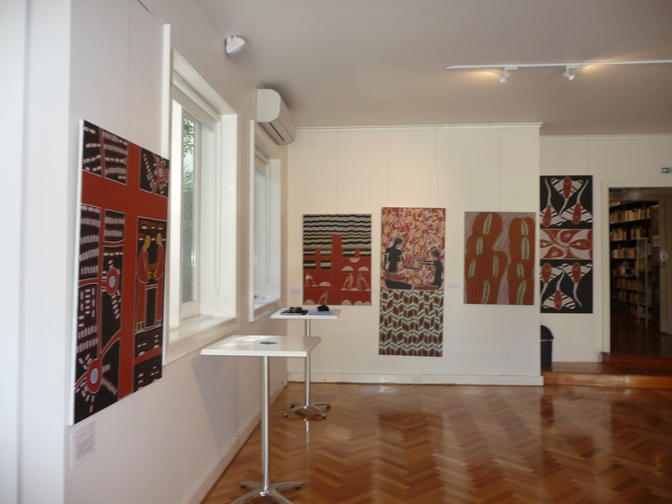 View of exhibition space at the Italian Institute of Culture.