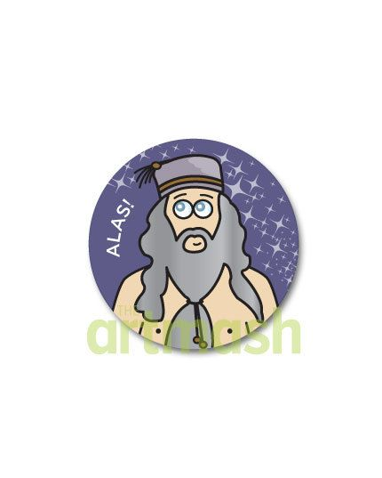Albus Dumbledore Button  Alas by theartmash on Etsy, $1.50
