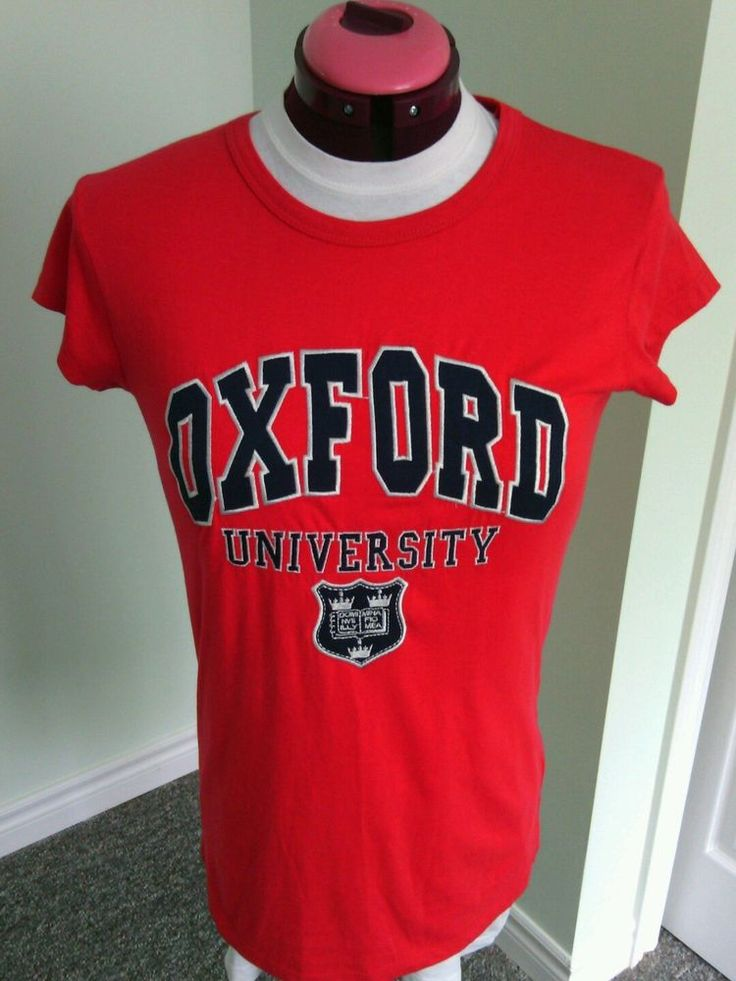 Women's Red Oxford University Tee Shirt Size L Soft Fit Nas Official Merchandise | eBay