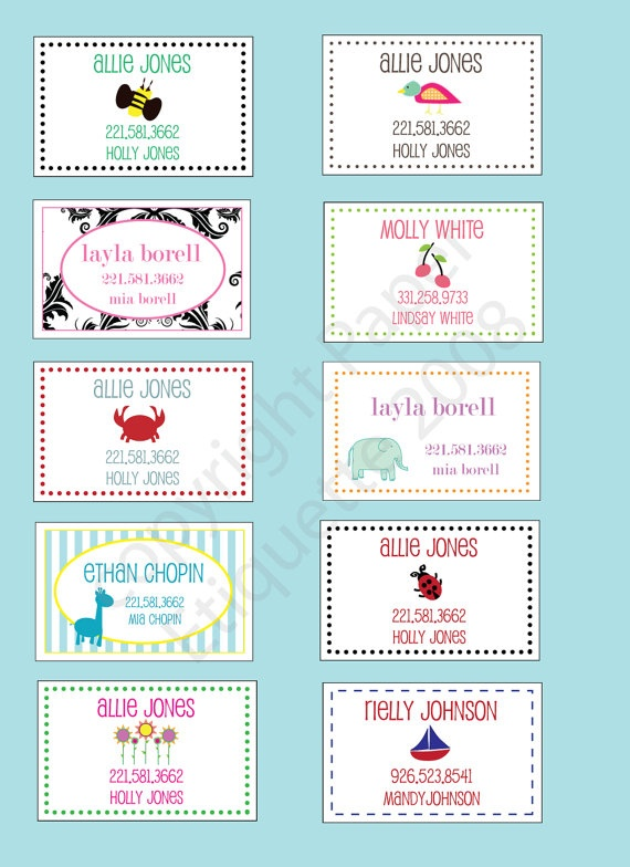 For all my friends w/ or having babies...WATERPROOF Custom Diaper Bag Tag Backpack Tag or by PaperEtiquette, $20.00