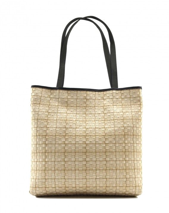 Timea in Nougat - Classic tote is crafted from durable synthetic rattan and trimmed in Italy leather  for a sleek, sophisticated look.  *Chameo Couture fashion bags are artisan handmade and handwoven, therefore the pictures are close reference but not exact representation, as each item is unique and special, with its distinct patterns and natural characteristics/textures of a handmade product.