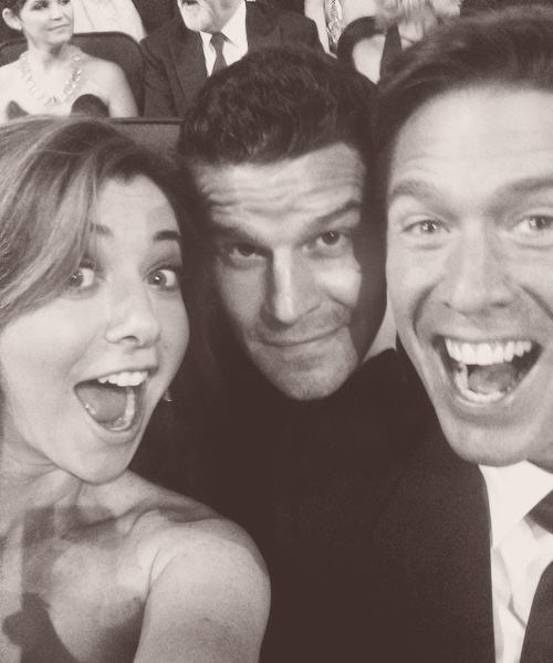 Alyson Hannigan, David Boreanaz & Alexis Denisof (Buffy/Angel cast)