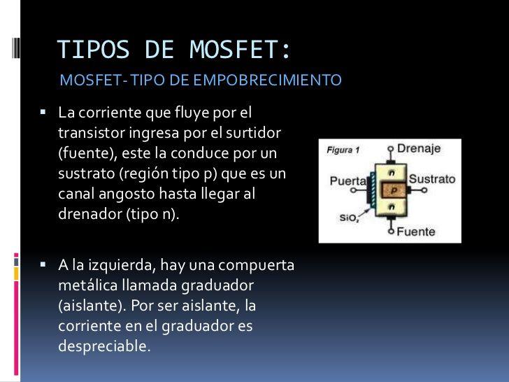 Transistores mosfet configuracion y polarizacion