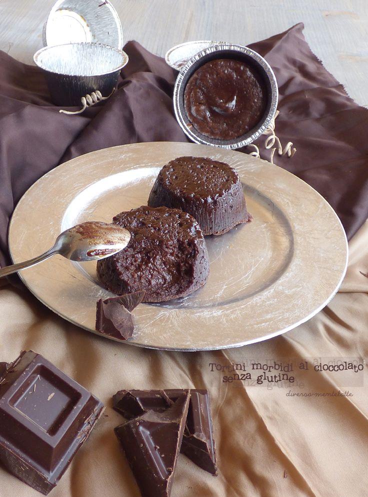 tortini morbidi al cioccolato-#senzaglutine e #senzalattosio