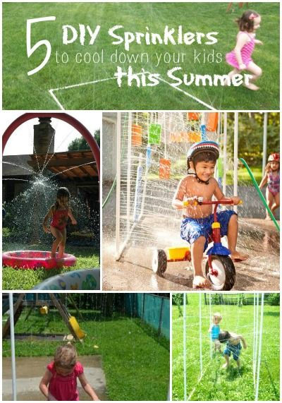 5 DIY Sprinklers to Cool Down Your Kids This Summer | Great activity ideas for the kids this summer!