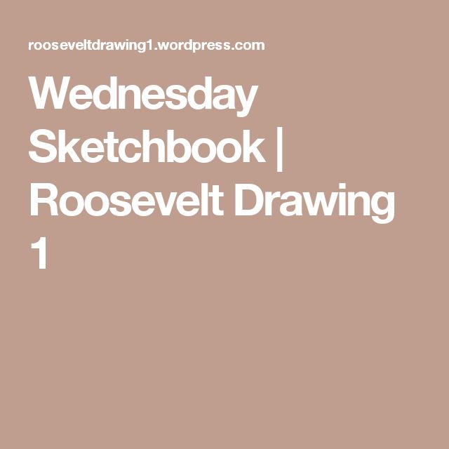 Wednesday Sketchbook | Roosevelt Drawing 1