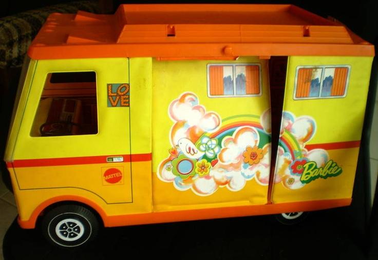 Barbie Beach Bus and Camper   Barbie Camper Bus with shown camping items. Umina Beach Gosford Area ...