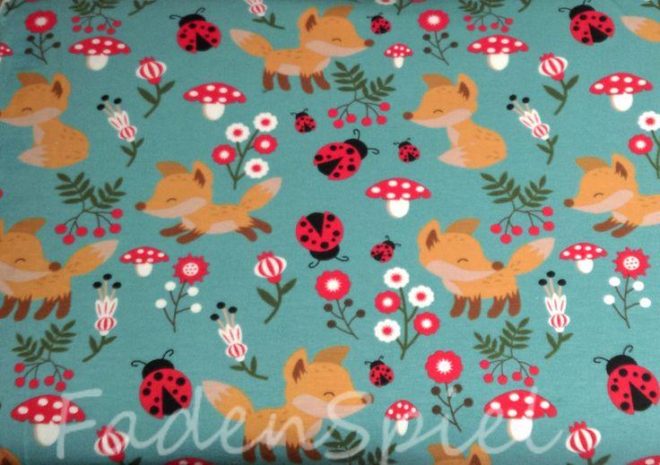Kinderstoffe - Jersey Fuchs Kinder - ein Designerstück von FadenSpiel-Regen bei DaWanda