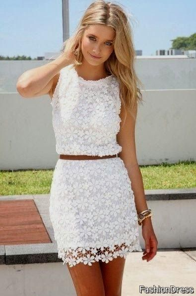 Awesome white lace casual dresses 2017-2018