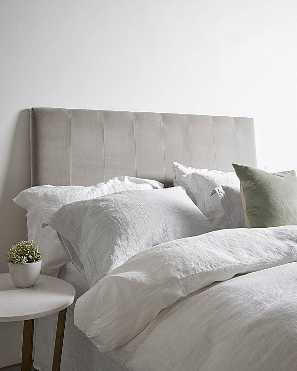 Beautiful white & grey bedlinen from Cox&Cox