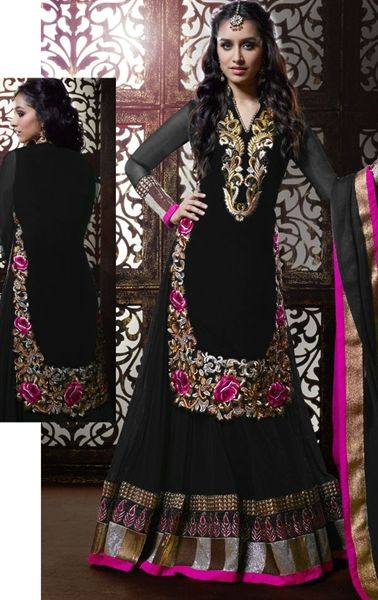 Stylish Black Color Designer Lehenga Kameez Choli