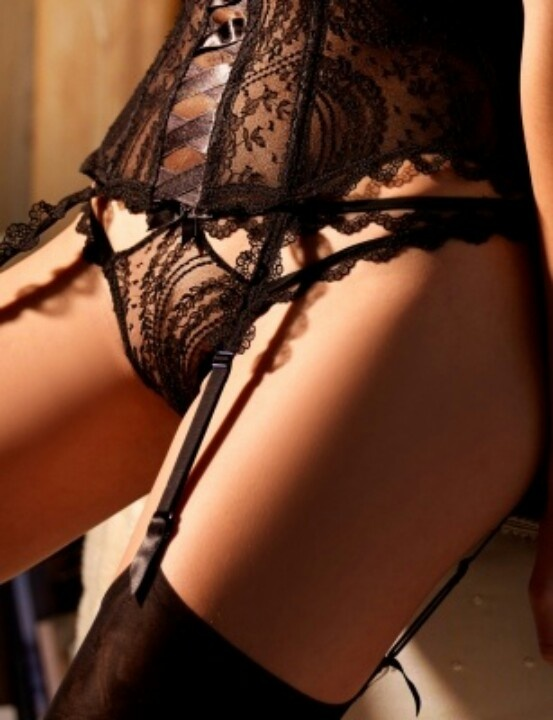 lace bustier  matching panty