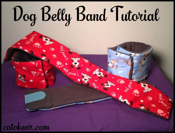 "Today's post is a dog belly band tutorial. You know, to cover dog junk and stop issues with indoor urination. Or, as my husband says, ""GROSS!"""
