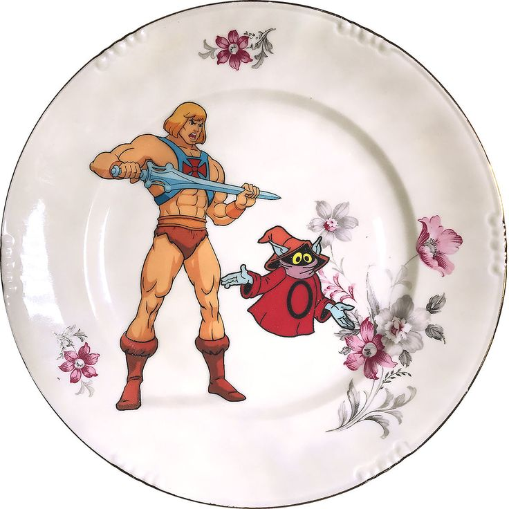 Masters of the Universe - He-man - Vintage Porcelain plate - #0499 by ArtefactoStore on Etsy