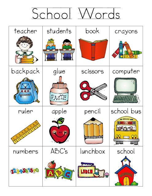school words word bank