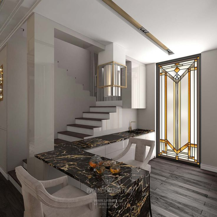 Дизайн кухни на первом этаже http://www.interior-design.biz/dizayn-kottedzha-vnutri-foto-v-sovremennom-stile