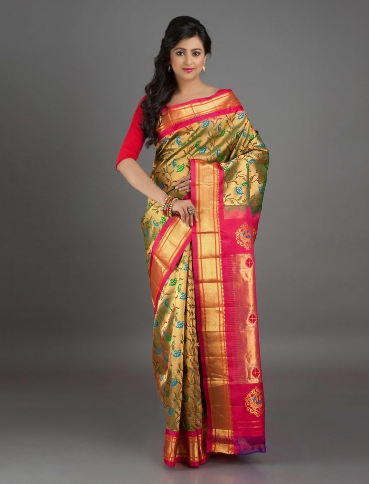 Chitra Full Brocade Jaal Paithani Silk Saree