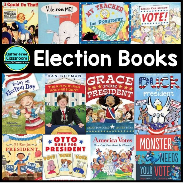 Election Book Ideas by Clutter-Free Classroom