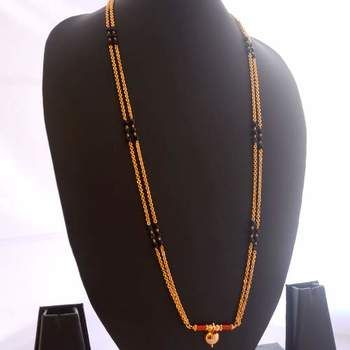 1cb89d9611aa1 Gold crystal mangalsutra | Latest Mangalsutra Designs | India ...