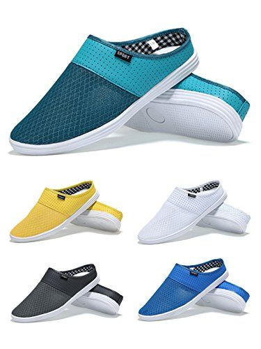 wow HnB Men's Breathable Beach Mesh Sneakers Leisure Closed Toe Summer Slippers