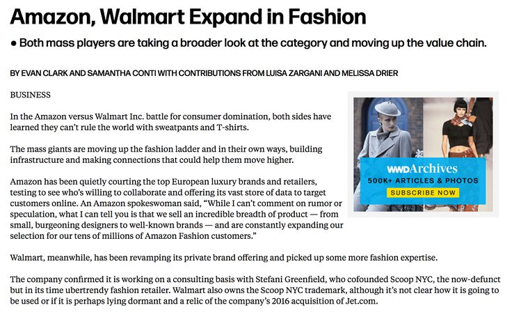 Amazon, Walmart Expand in Fashion - WWD