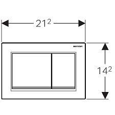Znalezione obrazy dla zapytania przycisk geberit sigma 30 wymiary