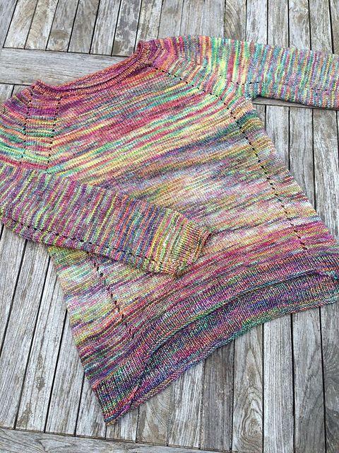 Holly by ANKESTRiCK, knitted by elbmarie | malabrigo Arroyo in Arco Iris