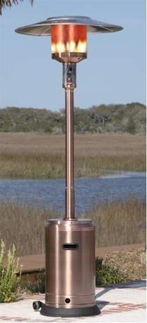 LPG Patio Heaters   46000 BTU Commercial Copper Finish Patio Heater
