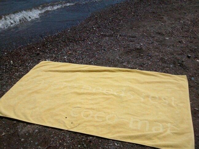 Towel at work, owner rests!!