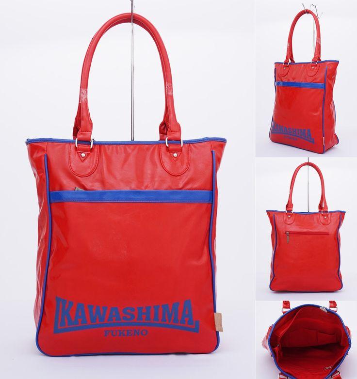 Tas Kawashima tote casual, tebal dan cantik.  Cocok untung hangout. Warna merah. Uk 35x39