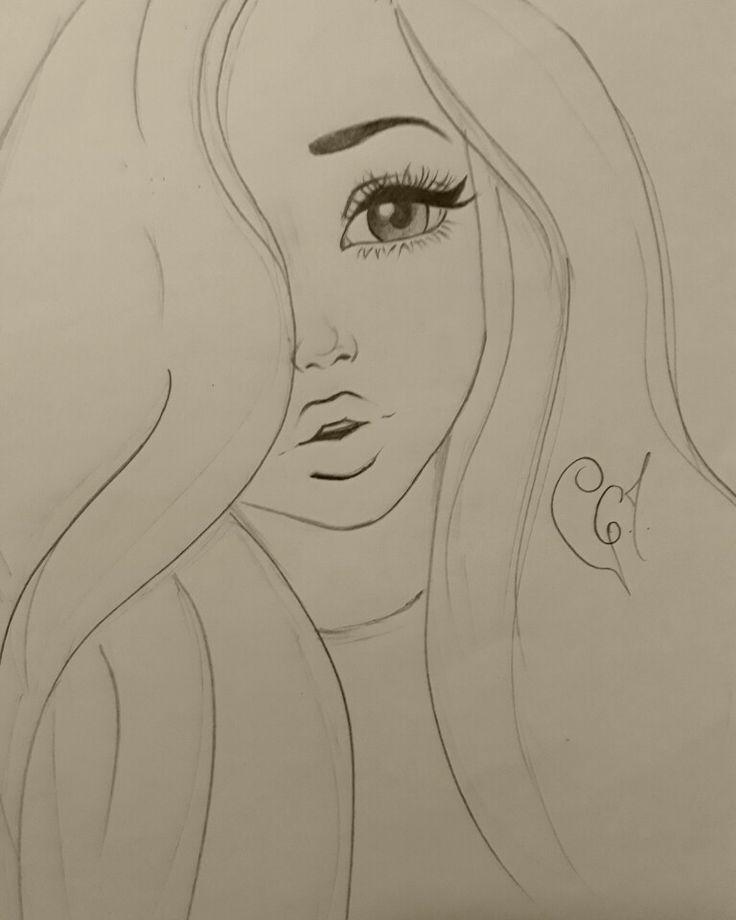 Большие картинки для срисовки для девочек