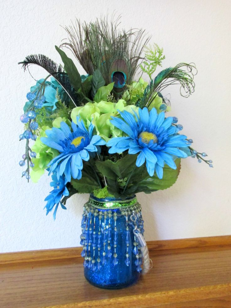 Best turquoise centerpieces ideas on pinterest teal