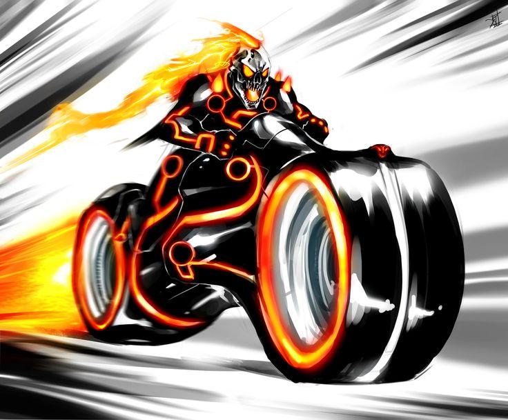 Ghost Rider - Tron by Samuel Johnson