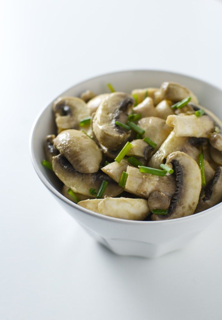 Insalata di funghi champignon | #vegan #vegetarian