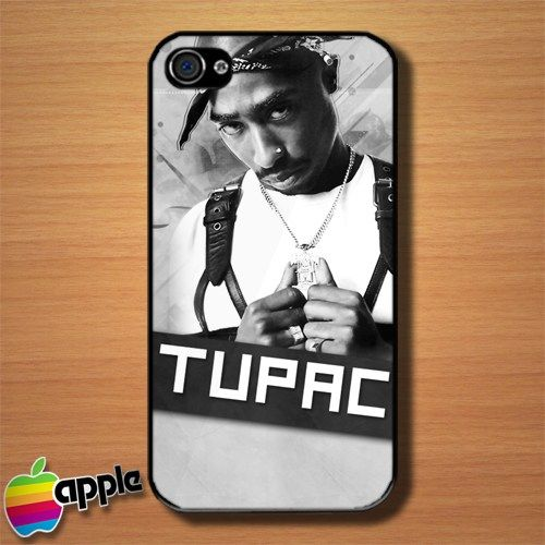 Tupac Shakur 2Pac Custom iPhone 4 or 4S Case Cover #iphone4Case