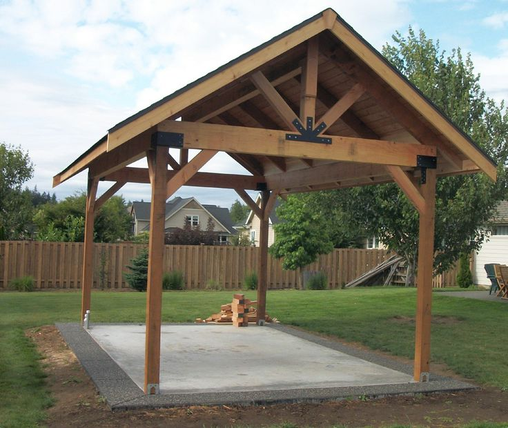 Outdoor Picnic Pavilion Plans  Bing Images  Pergola in 2019  Pavillion backyard Backyard