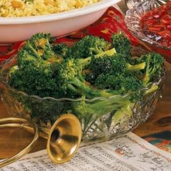 Broccoli with Poppy Seed Butter and Parmesan Cheese | Recipe