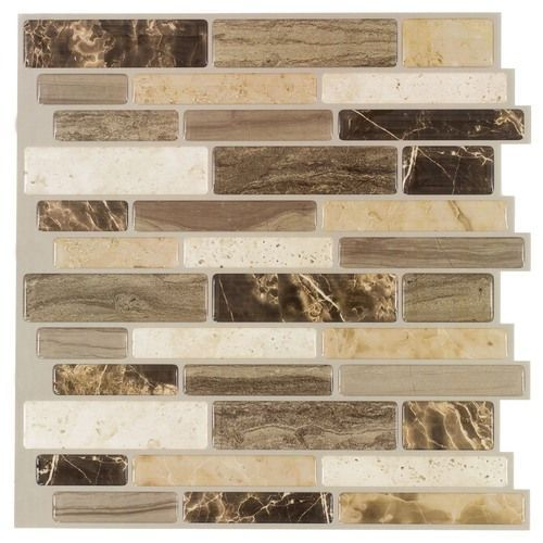 Italy Stone Peel & Stick Wall Tile is a DIY 3D self-adhesive that can be installed over existing tiles such as backsplash. No grout needed. USA made. Order a sample!