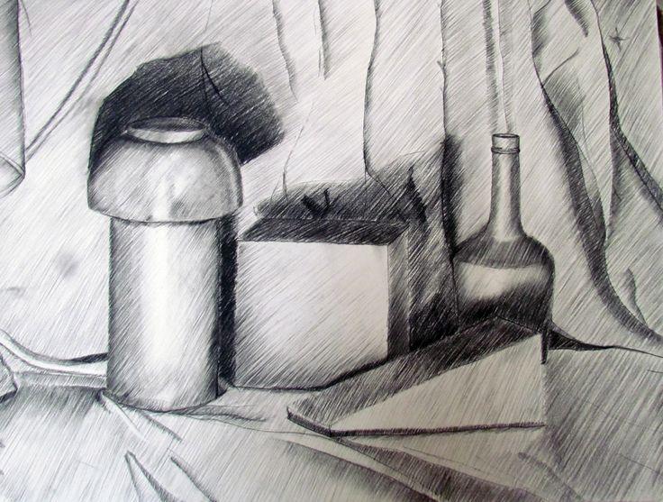 Dibujo académico  Tecnica: papel camisa + carboncillo y achurado Primer semestre 2014 - Dibujo - Artes Visuales