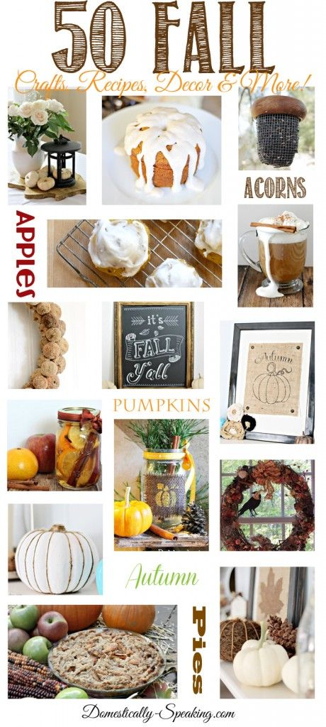 50 Fall Crafts, Recipes, Decor and More... All Things Fall! - Domestically Speaking