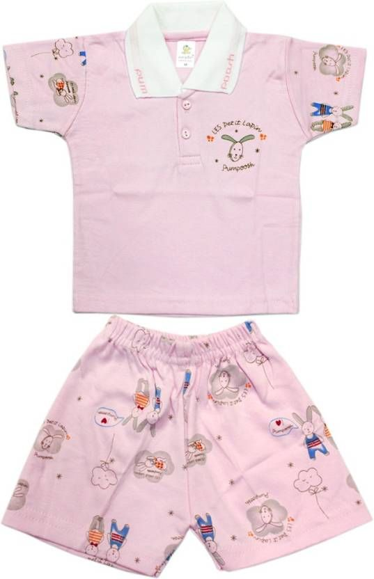 Kid's #Care Boys #Casual T-#shirt Pant  (Pink)