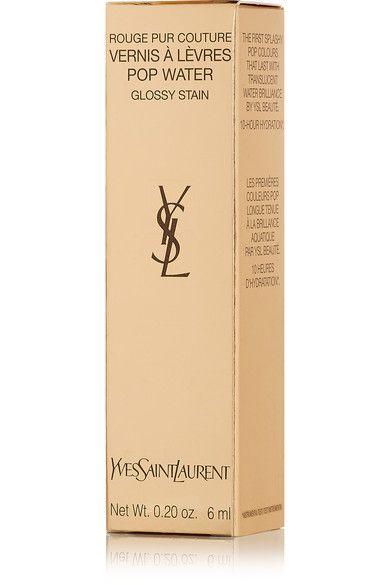 Yves Saint Laurent Beauty - Rouge Pur Couture Lip Lacquer Glossy Stain - Eau De Corail 203 - Pink