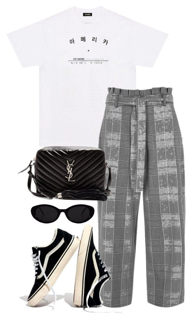 """Untitled #5239"" by theeuropeancloset on Polyvore featuring Raf Simons, River Island, Madewell and Yves Saint Laurent"
