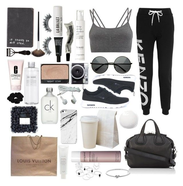 Untitled #22 by mollzhav on Polyvore featuring polyvore, fashion, style, Kenzo, Sweaty Betty, NIKE, Louis Vuitton, Givenchy, Michael Kors, River Island, Napoleon Perdis, Eyeko, Make, Calvin Klein, Clinique, L:A Bruket, Fresh, This Works, Living Proof, Aesop, NARS Cosmetics, Muji and clothing