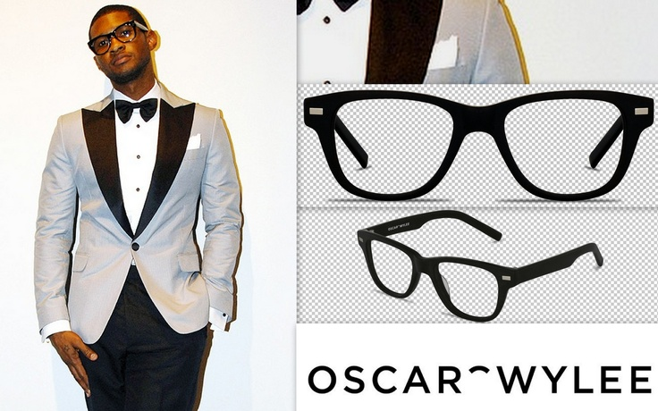 Usher looking stylish in a pair of glasses. Emulate his cool style with our Darwin frames, available at www.oscarwylee.com.au (picture from: http://ilovemeninsuits.tumblr.com/image/29898588396)