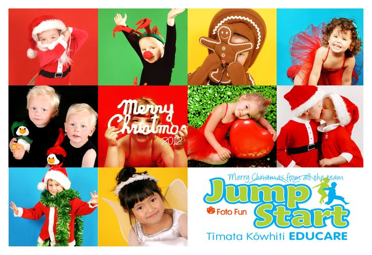 Jump Start Christmas card with out photos