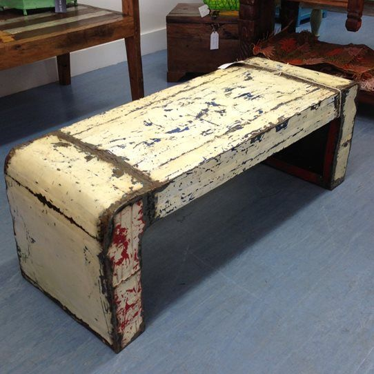 Vintage Love - Recycled Oil Drum Bench Seat or Coffee Table