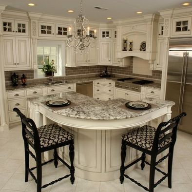 Kitchen Cabinets   love the island and cabinetsBest 20  Round kitchen island ideas on Pinterest   Large granite  . Ivory Kitchens Design Ideas. Home Design Ideas